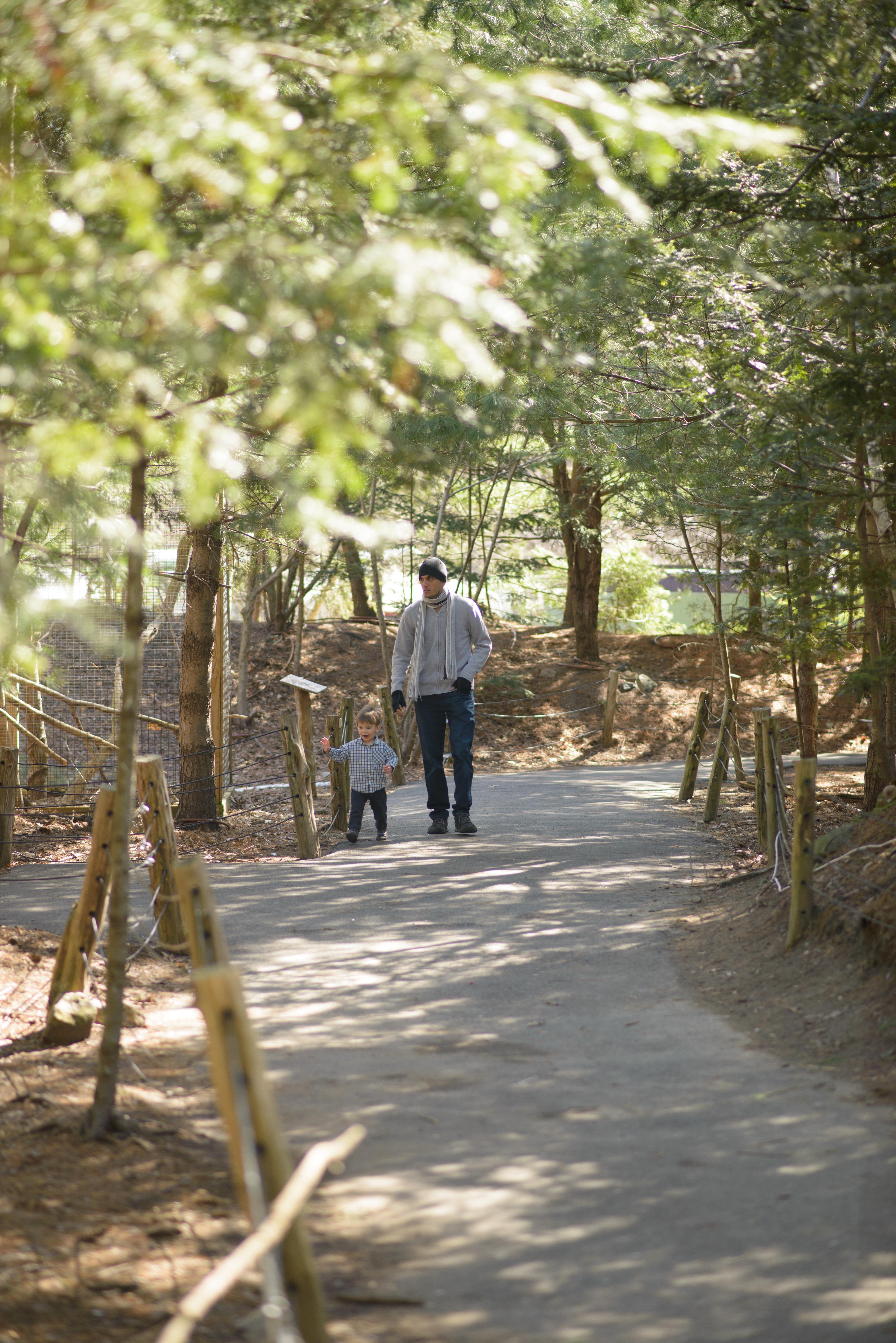 Javi walking with Ewan