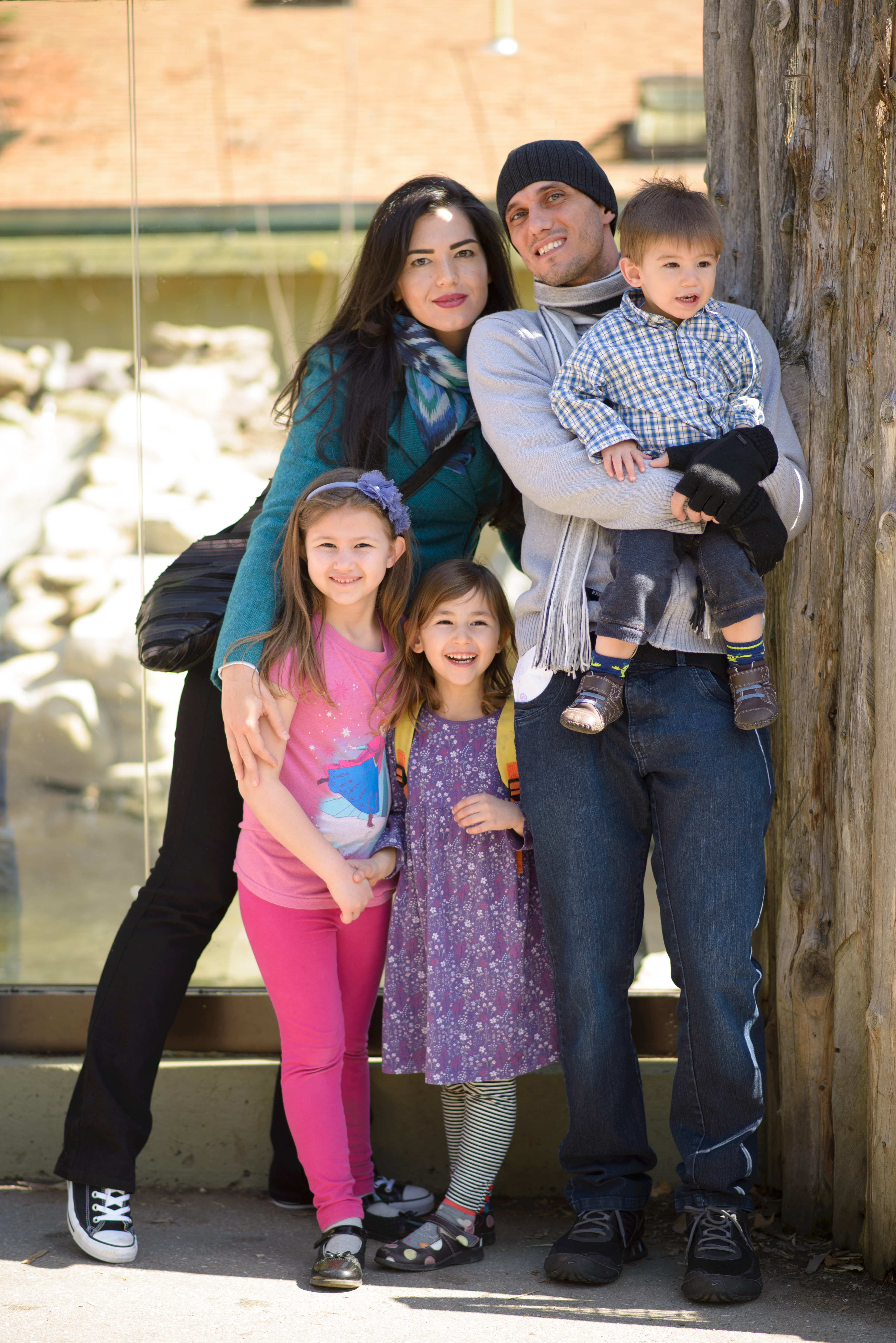 Josie, Bruna, Celia, Javi and Ewan