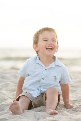 Ewan on the beach