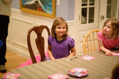Celia awaiting her cake